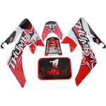 Decals for 50-125 Dirtbike-Red&Black