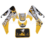 Decals for 50-125 Dirtbike-Yellow&Black
