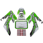 Decals for 50-125 Dirtbike-Green