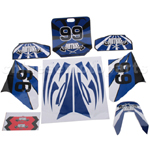 Decals for 50-125 Dirtbike-Blue No.99