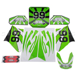 Decals for 50-125 Dirtbike-Green No.99