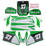 Decals for 50-125 Dirtbike-Green NO.27