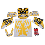 Decals for 50-125 Dirtbike-Yellow No.99