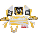 Decals for 50-125 Dirtbike-Yellow No.27