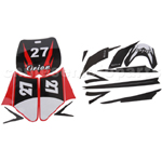 Decals for 50-125 Dirtbike-Red