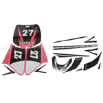 Decals for 50-125 Dirtbike-Pink