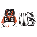 Decals for 50-125 Dirtbike-Orange