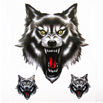Lethal Threat Tribal Wolf Totem Fang Decal Sticker Motorcycles For Cruiser