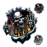 Motorcycle sticker Threat Fire Finger Skull Decal Sticker for Cars Motorcycle